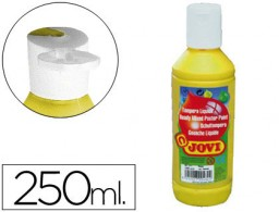 tempera líquida jovi escolar 250 ml amarillo