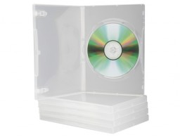 5 cajas Q-Connect para DVD transparentes