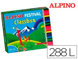 188 lápices de colores Alpino Festival Classbox