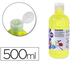 tempera líquida Liderpapel escolar 500 ml amarillo limon