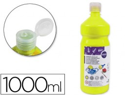 tempera líquida Liderpapel escolar 1000 ml amarillo limon