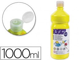 tempera líquida Liderpapel escolar 1000 ml amarillo