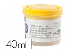 tempera Liderpapel escolar 40 ml amarillo