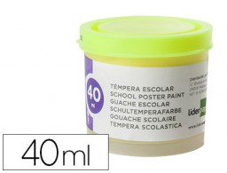 tempera Liderpapel escolar 40 ml amarillo limon