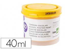 tempera Liderpapel escolar 40 ml amarillo oro