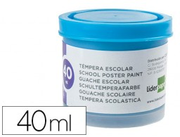 tempera Liderpapel escolar 40 ml azul