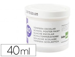 tempera Liderpapel escolar 40 ml blanco