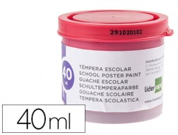 tempera Liderpapel escolar 40 ml magenta