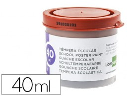 tempera Liderpapel escolar 40 ml marron