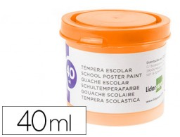 tempera Liderpapel escolar 40 ml naranja
