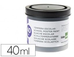 tempera Liderpapel escolar 40 ml negro