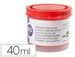 tempera Liderpapel escolar 40 ml rojo