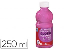 pintura acrilica l&b brillo rosa chicle bote de 250 ml