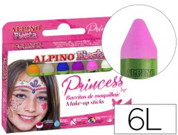 6 barras maquillaje Alpino Princess