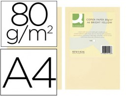 500h papel fotocopiadora Q-Connect A4 80g/m² color crema