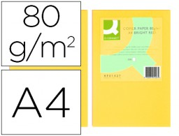 500h papel fotocopiadora Q-Connect A4 80g/m² color amarillo