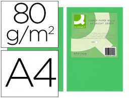 500h papel fotocopiadora Q-Connect A4 80g/m² color verde intenso