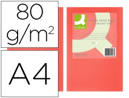 500h papel fotocopiadora Q-Connect A4 80g/m² color rojo intenso