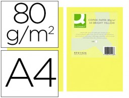 500h papel fotocopiadora Q-Connect A4 80g/m² color amarillo intenso