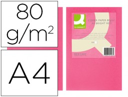 500h papel fotocopiadora Q-Connect A4 80g/m² color rosa intenso