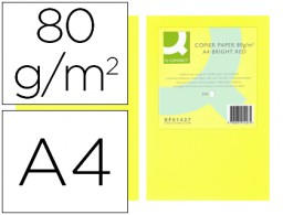 500h papel fotocopiadora Q-Connect A4 80g/m² color amarillo neón