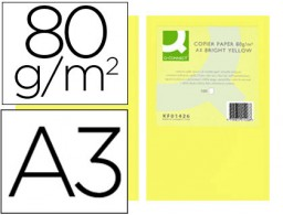 500h papel fotocopiadora Q-Connect A3 80g/m² color amarillo intenso