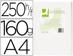 250h papel fotocopiadora Q-Connect Ultra white A4 160g/m²
