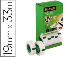 14 cintas adhesivas Scotch Magic 33m.x19 mm.
