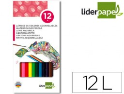 12 lápices de colores acuarelables Liderpapel