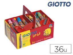 36 lápices de colores Giotto Super Bebé School Pack + 3 sacapuntas